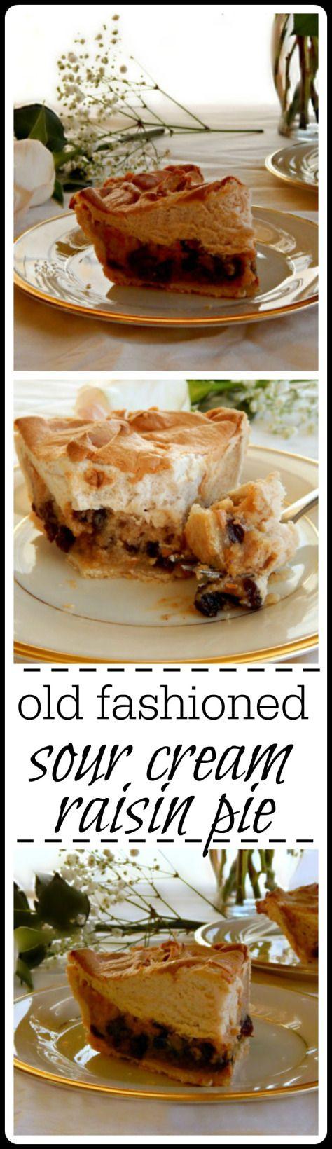 Old Fashioned Sour Cream Raisin Pie Raisin Pie Sour Cream Raisin Pie Sour Cream