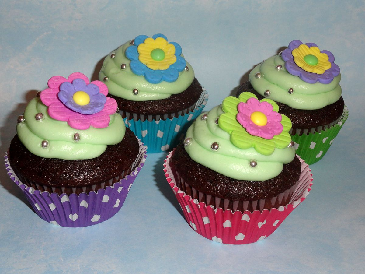 Birthday Flower Cupcakes Bday Cake Pinterest Flower Cupcakes