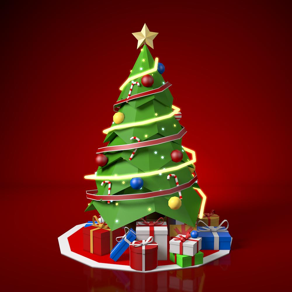 Low Poly Christmas Tree Poly Christmas Tree Christmas Tree Clipart Christmas Tree 3d Model Cartoon Christmas Tree