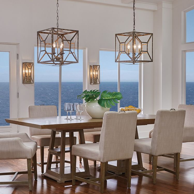 Casual Dining Room Chandeliers: Marquelle Four-Light Chandelier In 2020