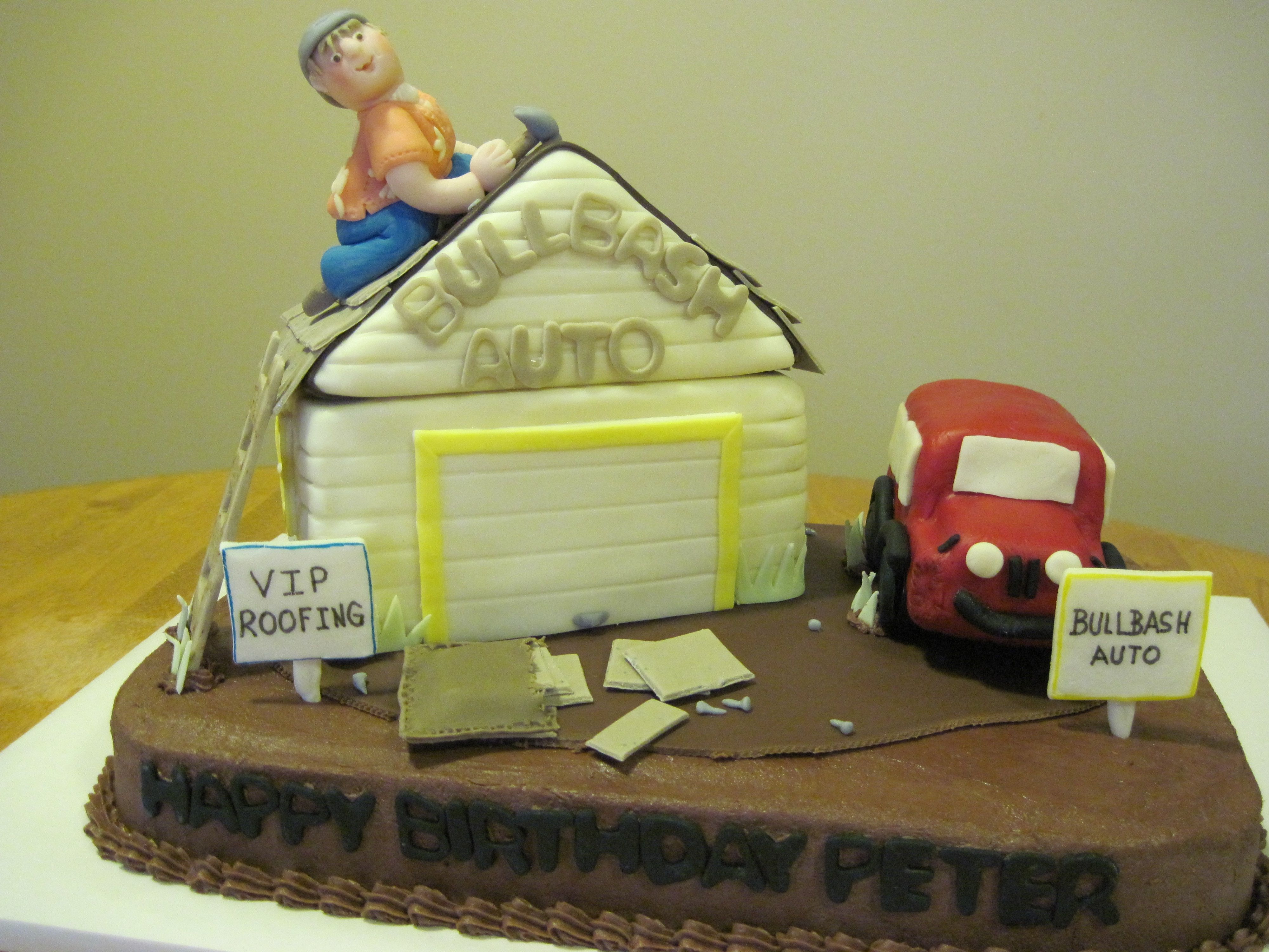 Roofin the Garage A birthday cake for a man who does roofing