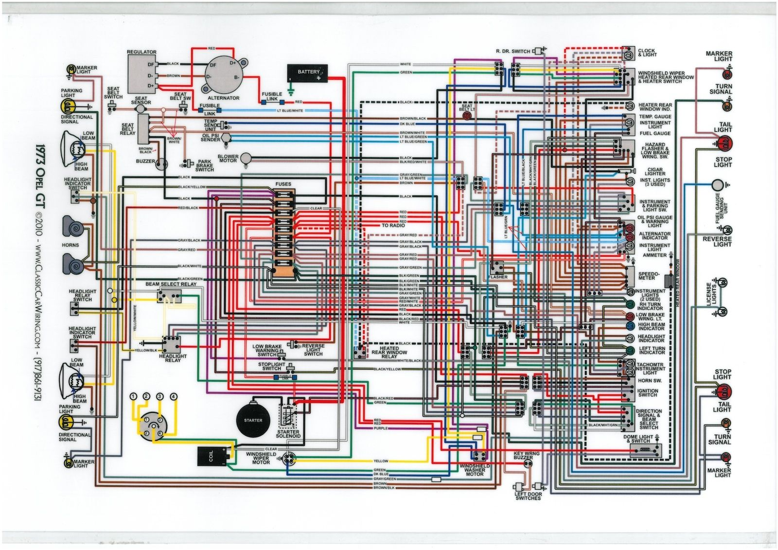 opel gt 1973 diagram electrical technical drawing opel gt 1900 opel astra  opel gt 1973 diagram