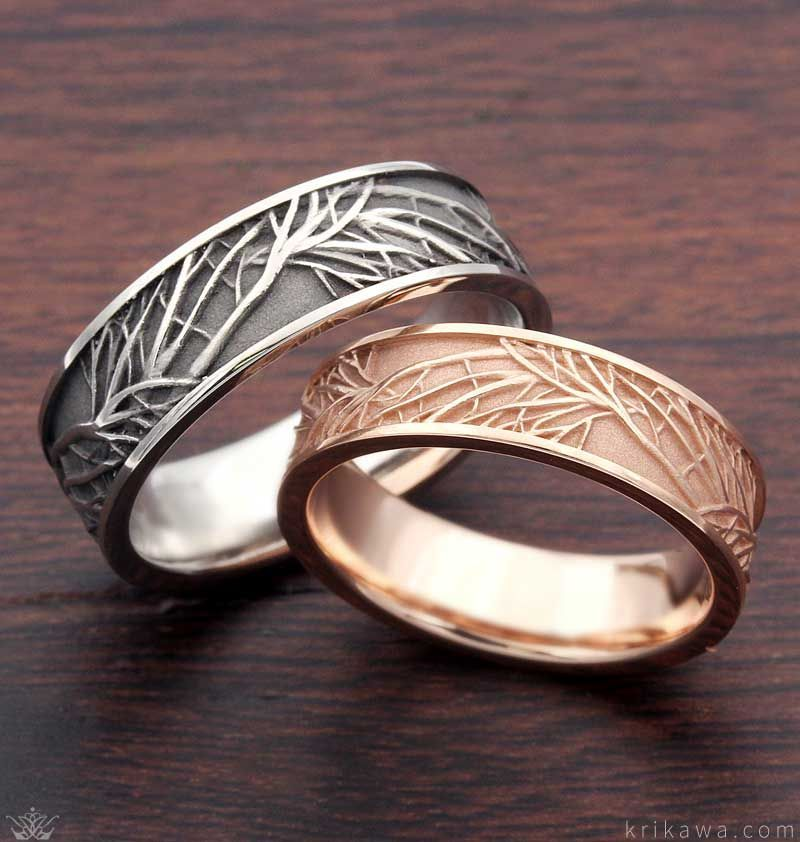 Photo of Tree of Life Wedding Rings #weddingrings Tree of Life Wedding Band set in pallad…