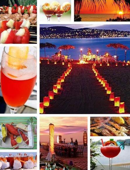 Kaarsen Als Pad Voor Savonds Bbq Night Beach Weddings