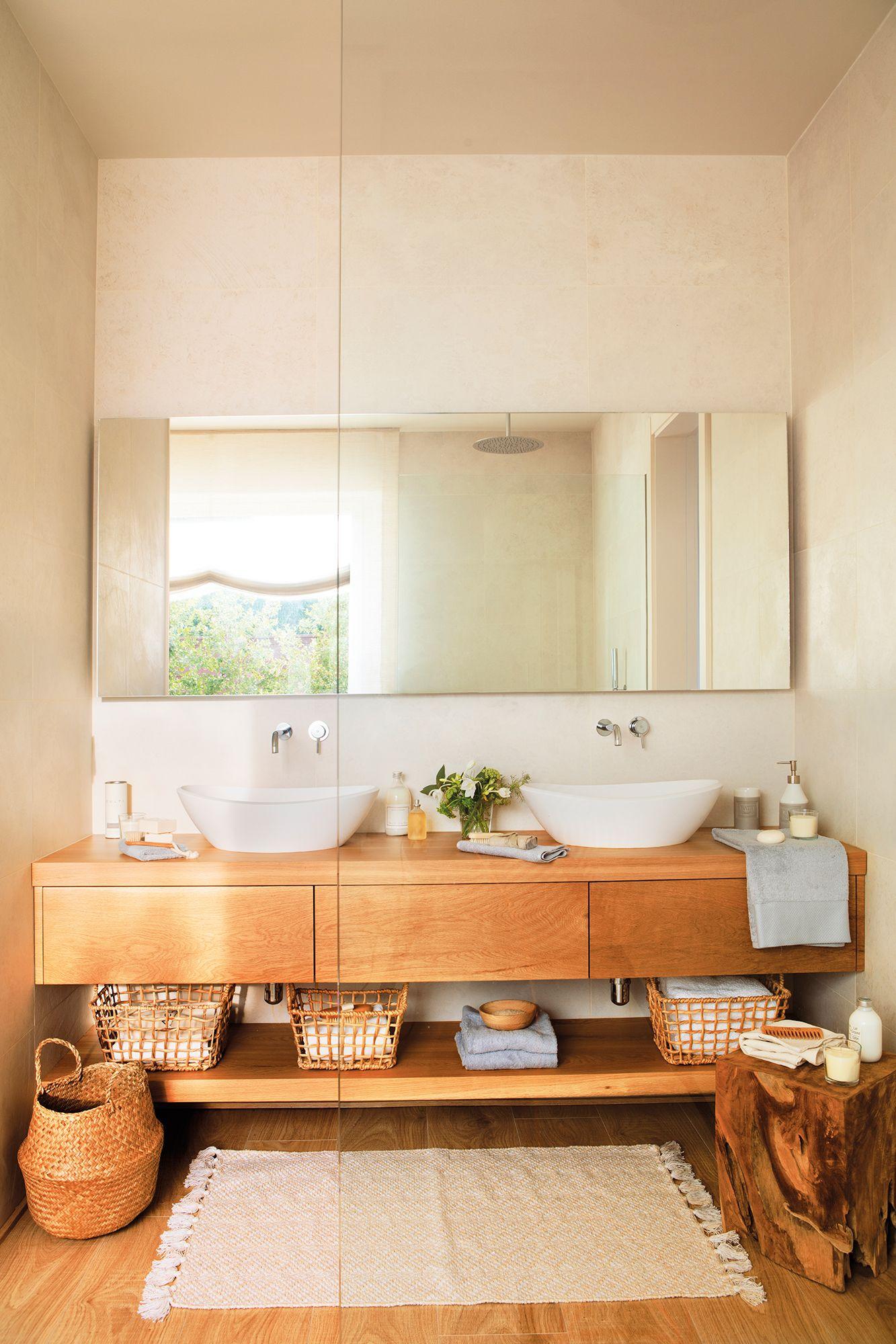 Rústico de ciudad | Baños madera, Diseño de baños y ...