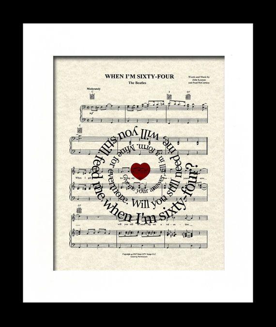 When I 39 M Sixty Four Sheet Music Art Print Song Lyric Art Tandem Bicycle Beatles Music First Dance Spiral L Song Lyrics Art Song Lyric Print Lyric Prints