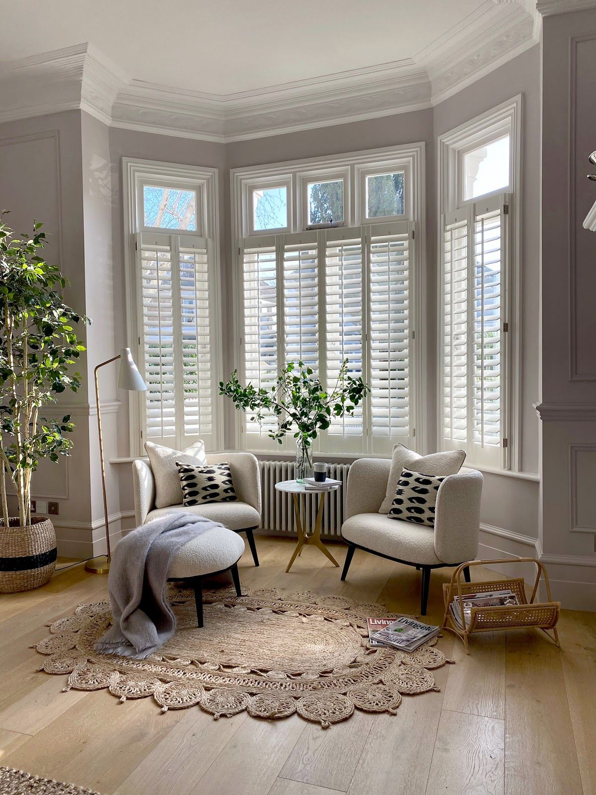 How to Style a Beautiful Bay Window