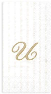 Bed Bath Beyond Paper Monogram Letter U Guest Towels 16 Pack
