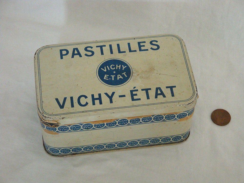 Small Vintage Metallic Box for Vichy Pastilles