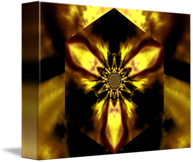 """Fire Lotus Yellow "" by Sherrie Larch Orange art, Yellow"
