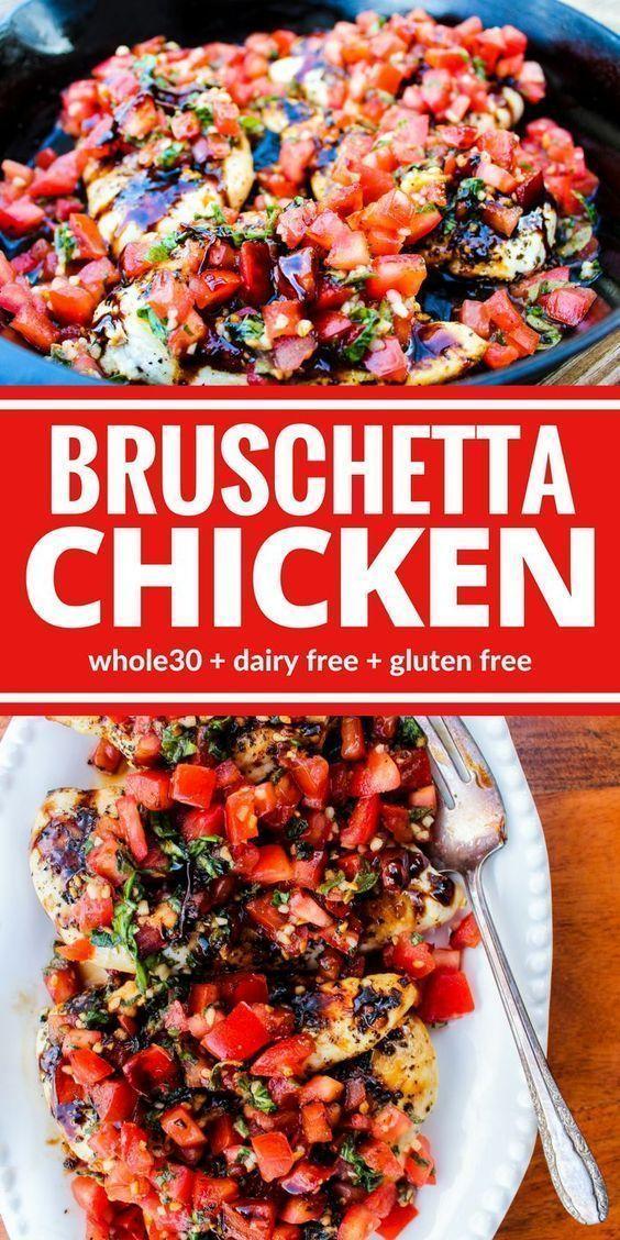 Healthy Bruschetta Chicken #healthyrecipes