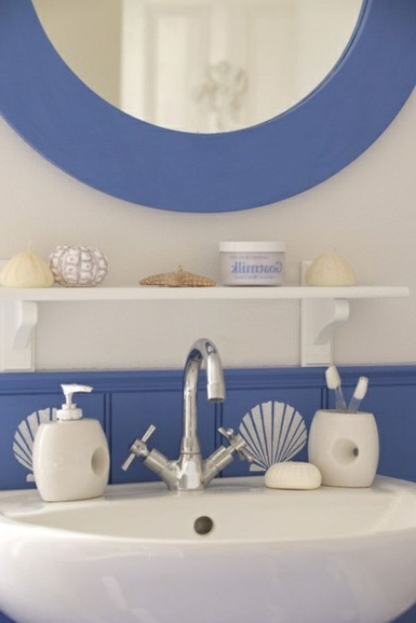 id es de d co de salle de bain en style marin deco salle de bain decor design et beach. Black Bedroom Furniture Sets. Home Design Ideas