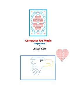 This e-book has a number of different techniques by which students can create interesting art, including counted cross stitch pictures. They all use Word or a word processor