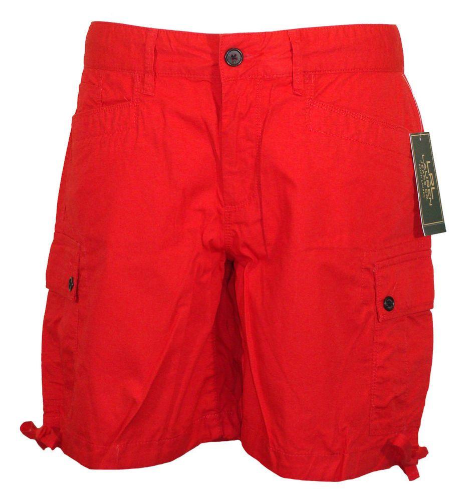 Ralph Lauren Womens Shorts Cargo Relaxed Fit Cotton Poplin Red Sz 2 NEW $69.50 #RalphLauren #Cargo