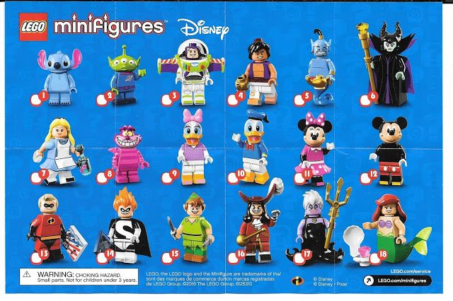 89bdf1a2a99 The Minifigure Collector: Lego Minifigure Series 1 -15, Lego Movie,  Simpson, Disney- Checklists and Visual Guides