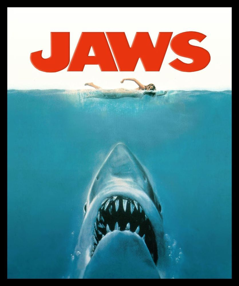 Jaws Movie Shark Vintage Giant Wall Art poster Print
