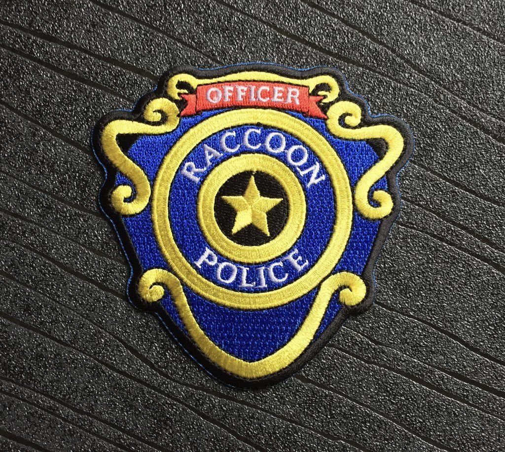 Resident Evil Raccoon City Police Officer Iron On Patch 95mm Resident Evil Raccoon City Police Detective Resident Evil