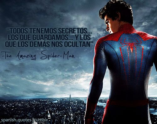 Spanish Quotes Frases De Spiderman Frases Epicas De Peliculas Frases De Marvel