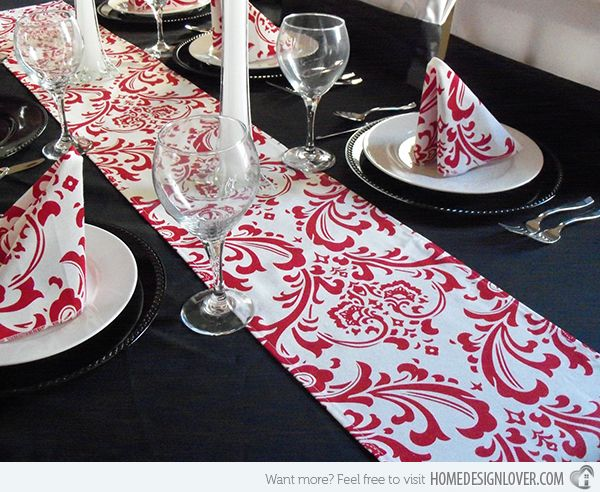 15 Table Runners In Intricate Patterns For Elaborate Meals