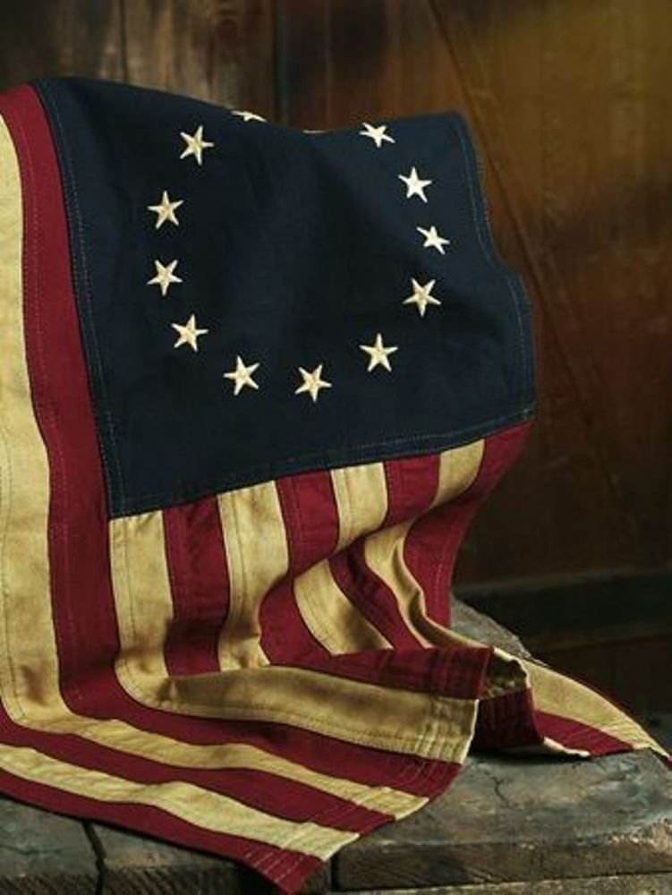 Aged Betsy Ross American Flag 13 Stars 58 X 34 Tea Stained Americana Betsy Ross Flag American Flag American