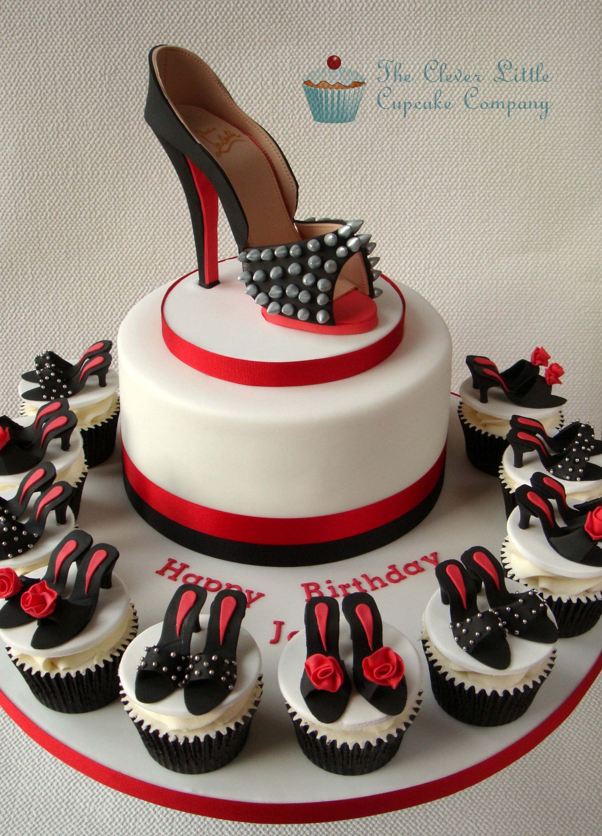 Louboutin Shoe Cake Cake Birthday cakes and Shoe cupcakes