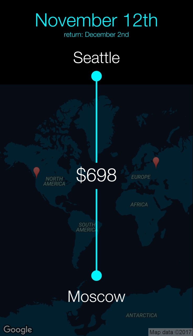 Flight from Seattle to Moscow for $698 by JetBlue Airways ...