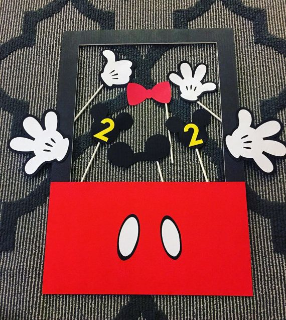 Mickey Mouse Birthday Party Photo Booth Props by BellaEventsStore