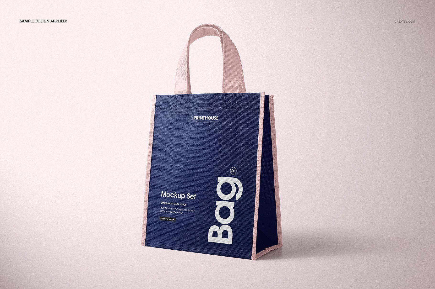 Download Non Woven Tote Bag Mockup Set