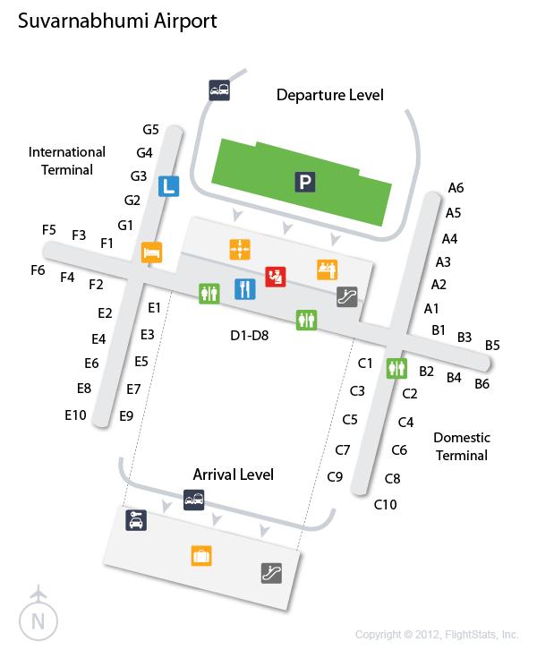 BKK Suvarnabhumi Airport Terminal Map airports Pinterest