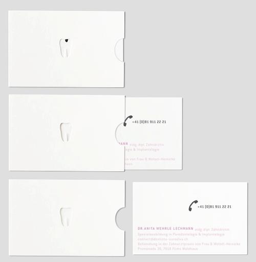 La tarjeta de un dentista