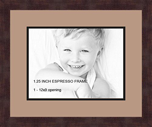 art to frames doublemultimat72376789frbw26061 collage frame photo mat double mat with 1 9x12 openings and espresso
