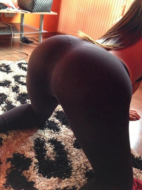 Yoga pants bent over tumblr