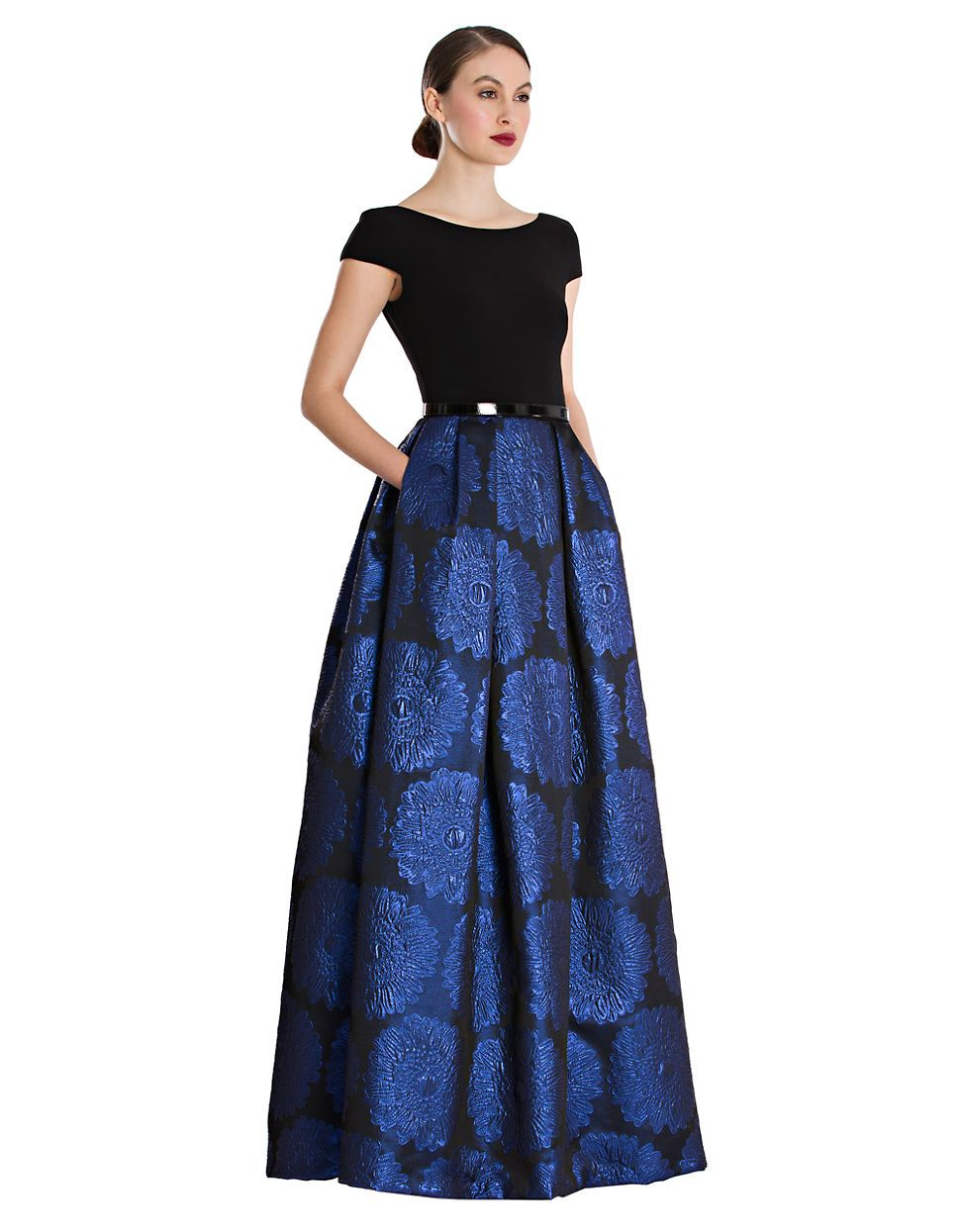 Womens Clothing Dresses Floral Printed A Line Gown Lord And