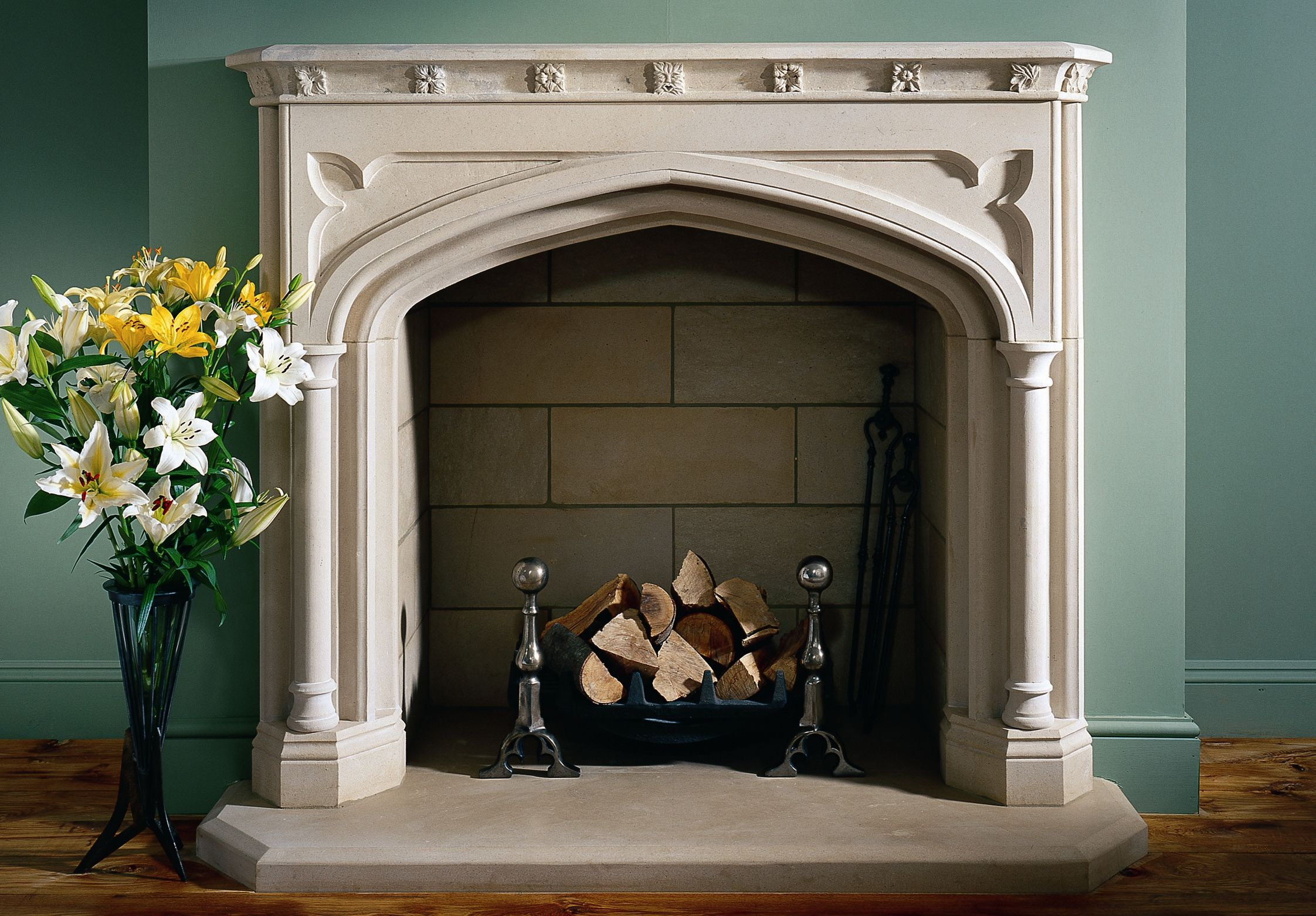 11 gothic revival style fireplace in portland basebed