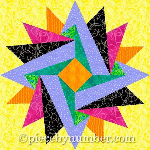 Indian Summer Paper Pieced Block | Åitie : quilting paper piecing - Adamdwight.com