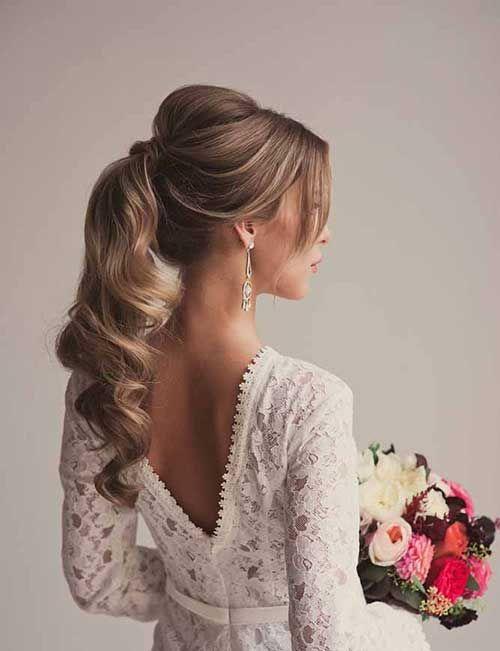 Wedding Ponytail Updo Hairstyles Hair Inspiration Pinterest