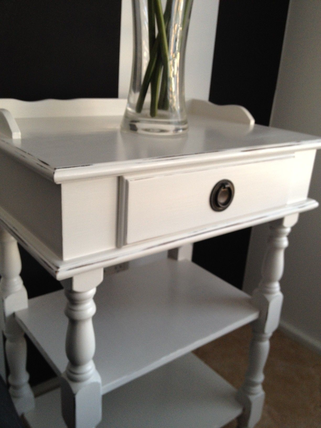 A vintage hallbedsidetelephone table that i upcycled to