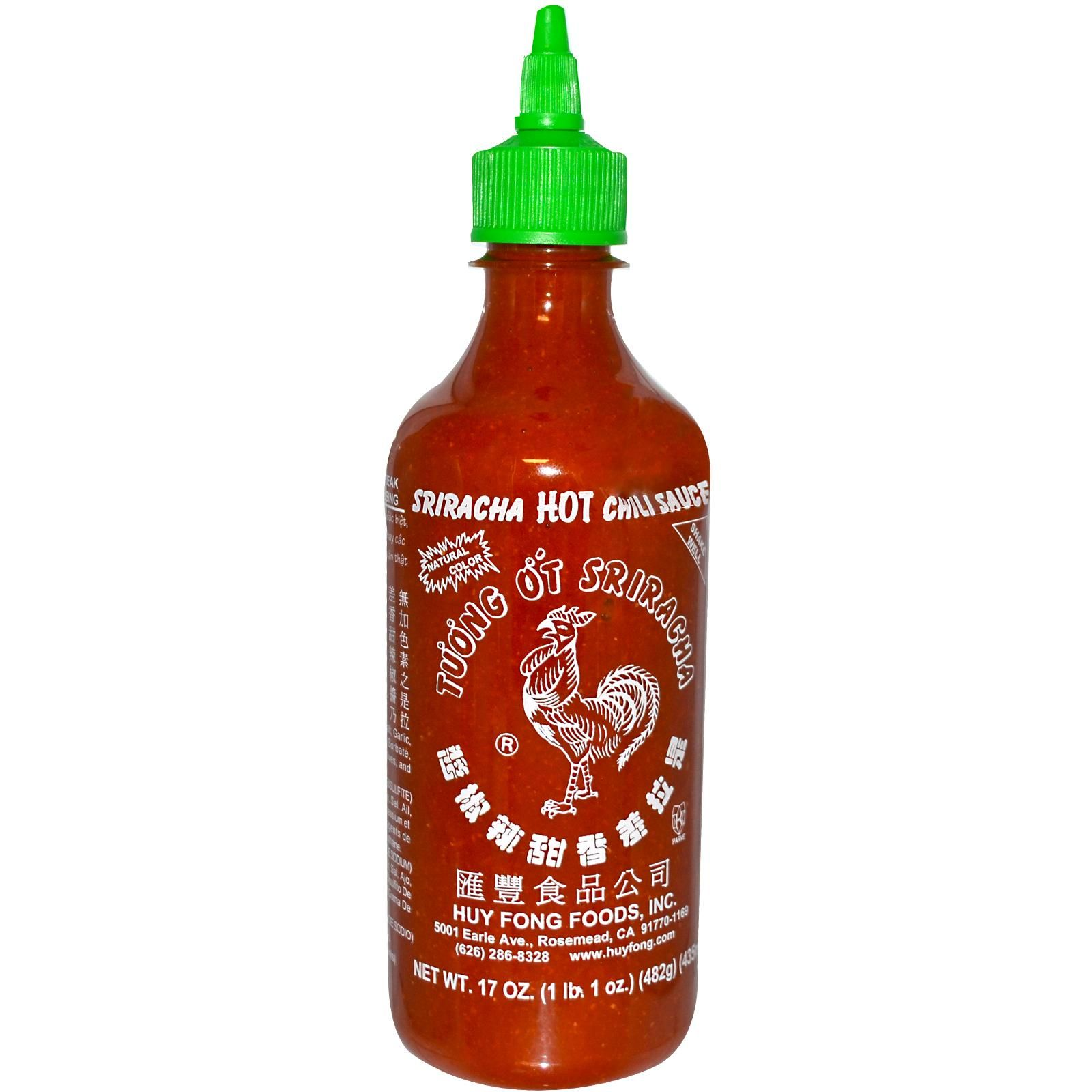 Huy Fong Foods Inc Sriracha Hot Chili Sauce 17 Oz 482 G Discontinued Item Hot Chili Sauce Sriracha Huy Fong Foods