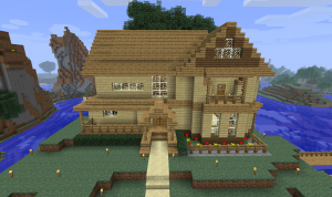 Playing Minecraft In Survival Mode Envioushost Blog Minecraft Small House Minecraft Small Modern House Minecraft Houses Survival