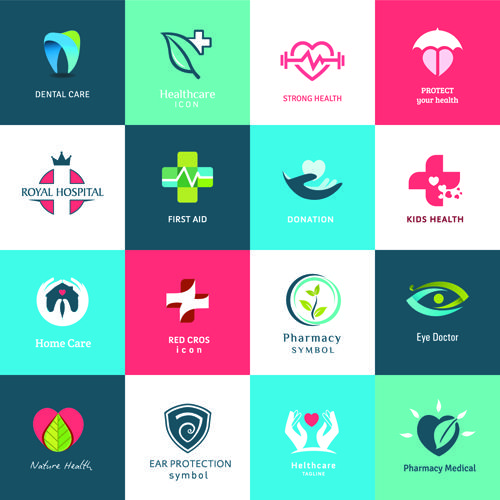 Creative Medical And Healthcare Logos Vector Set 06   Https://gooloc.com