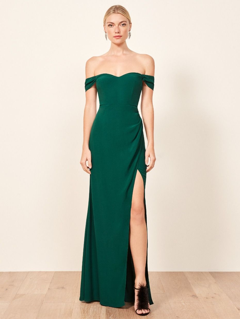 We Ve Got A Crush On Reformation S Fall Wedding Collection Dresses To Wear To A Wedding Green Bridesmaid Dresses Green Wedding Guest Dresses