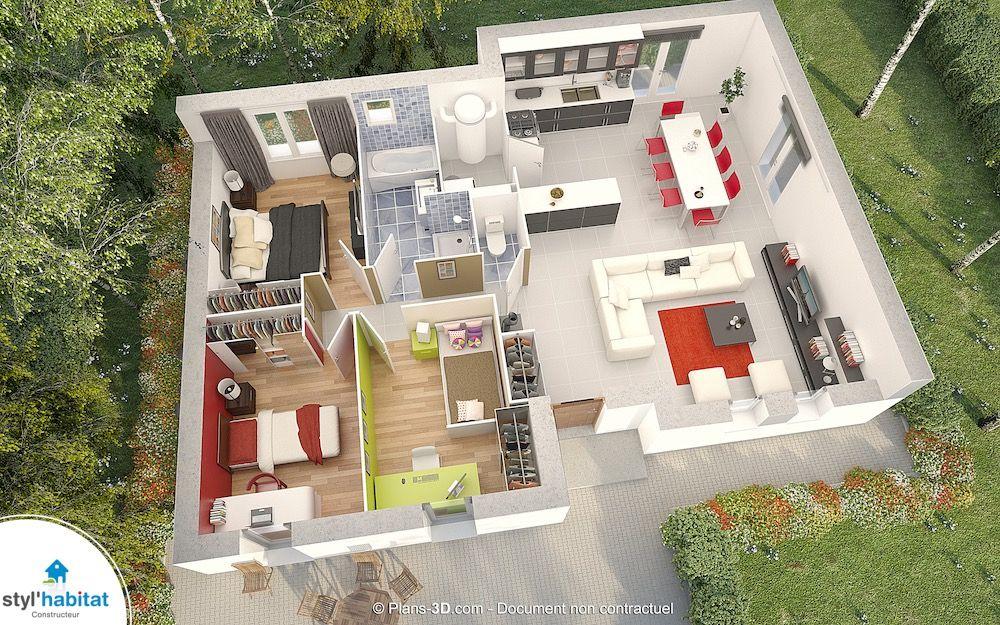 Maison Villa Patio - Couleur Villas Faire construire sa maison - construire sa maison 3d