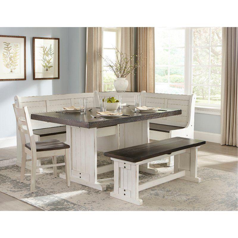 White Glass Extending Table Corner Dining Set Grey Chair