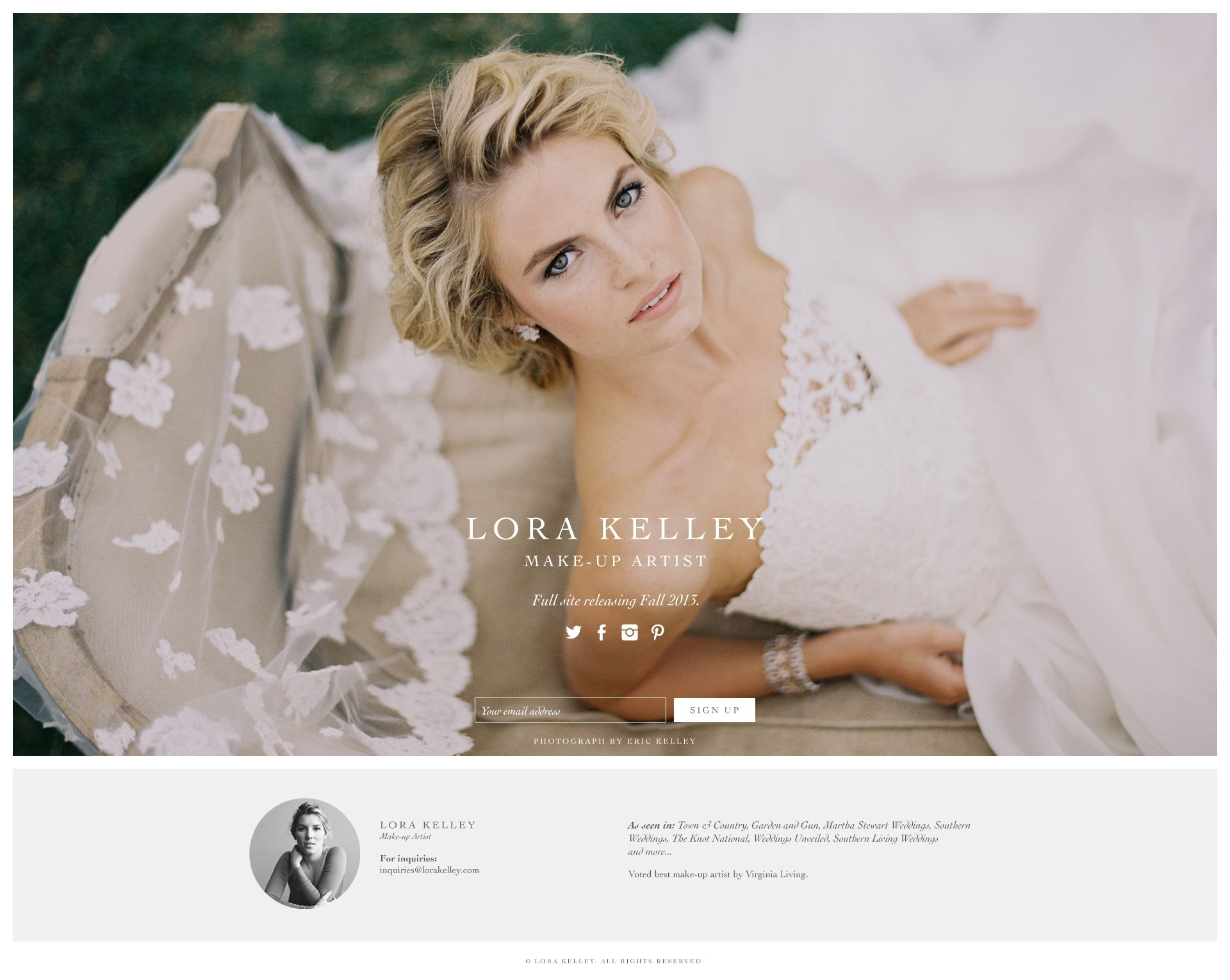 make-up artist website design | design // ux+web | Pinterest ...
