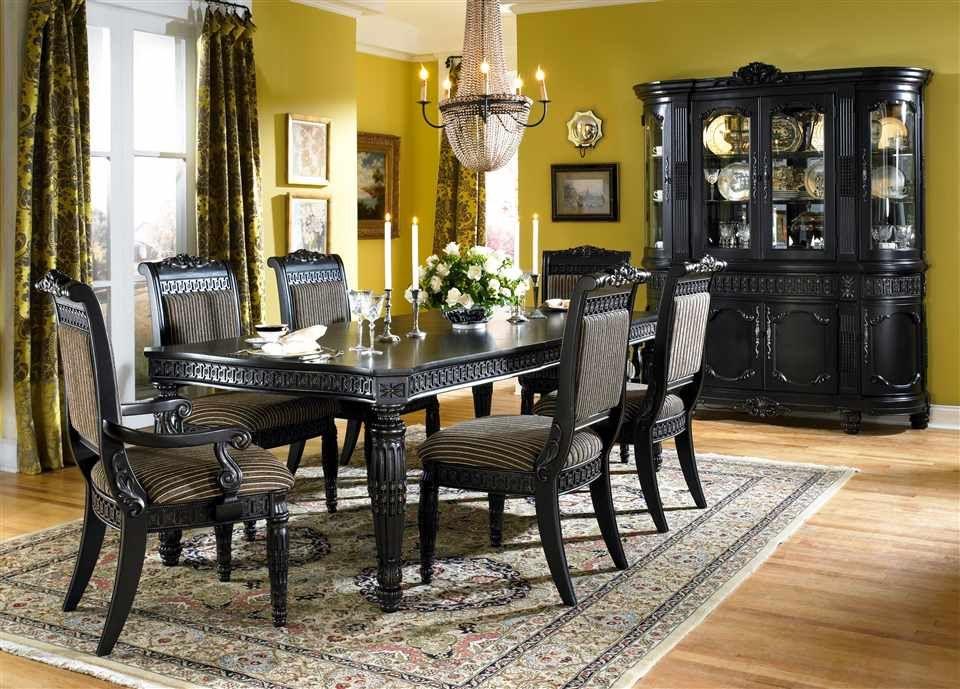 Schwarzer Esszimmer Tisch Set Küchen Schwarz Esszimmer Tisch Set ...