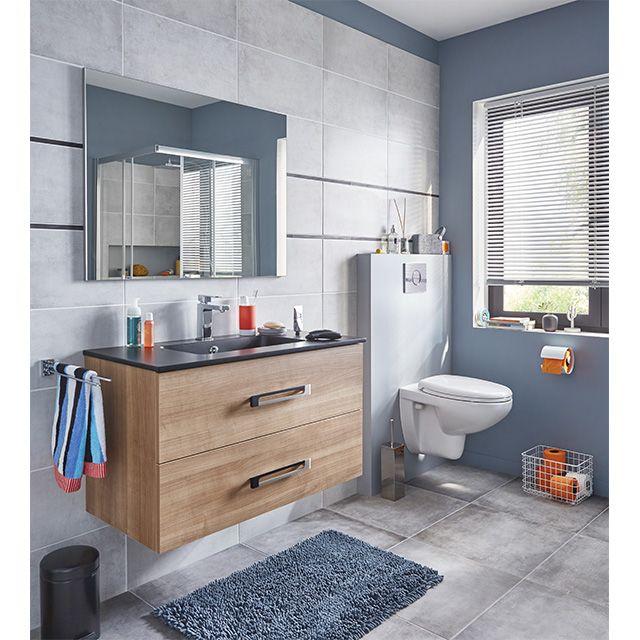 ensemble de salle de bains à suspendre lenca - castorama ... - Images Salle De Bain
