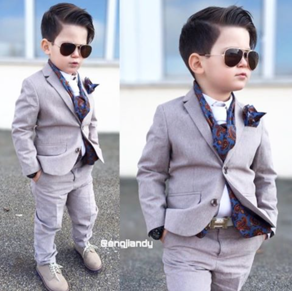 Deck out your little ones in kids ties, pocket squares and scarves