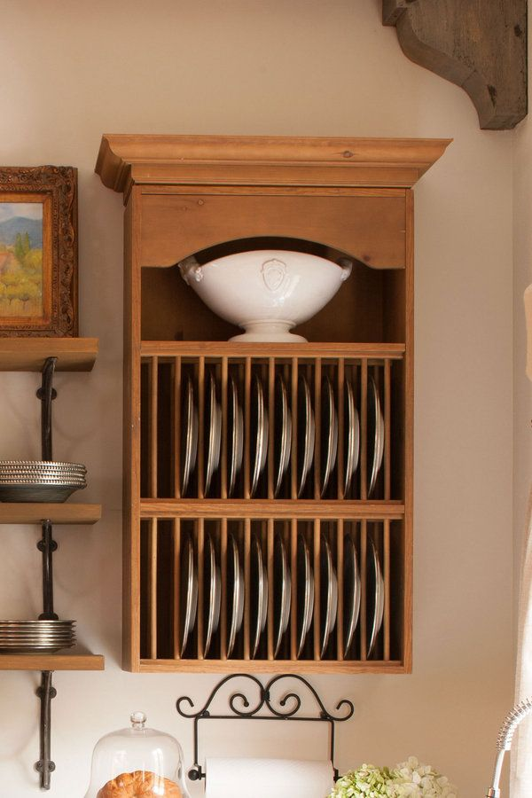 A vertical plate storage rack helps prevent dishes from chipping. & Organize Your Kitchen | Pinterest | Plate storage Storage rack and ...