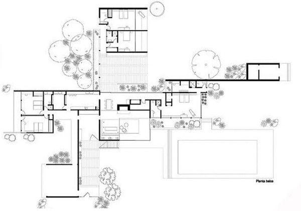 Ficha Casa Kaufmann Richard Neutra1 Nasz domek – Richard Neutra Kaufmann House Floor Plans
