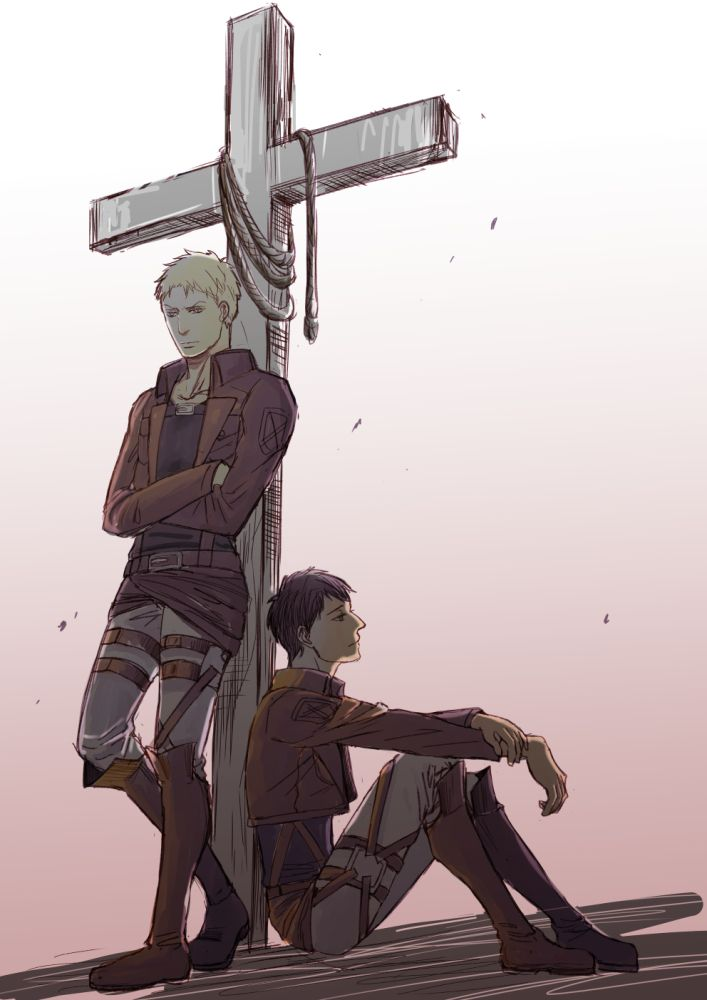 We're not going to heaven, are we Reiner | Attack on Titan / Shingeki no Kyojin / AoT / SnK | ReiBert/RaiBeru | Reiner Braun x Bertholdt/Bertolt Fubar/Hoover | Armored Titan & Colossal Titan | Yaoi OTP